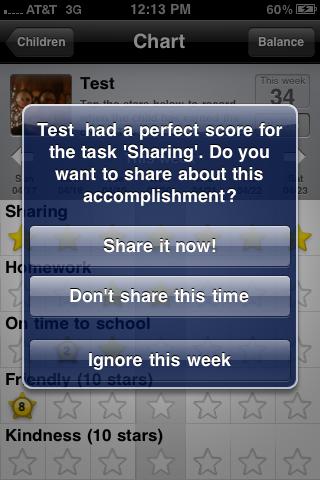 Share achievements with parents!