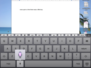 Dictating on my computer using Splashtop and the new iPad